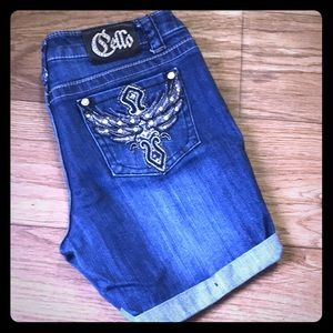 Cello embroidered jean shorts GUC 8
